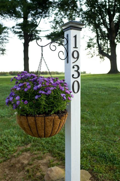 Diy House Numbers On Post