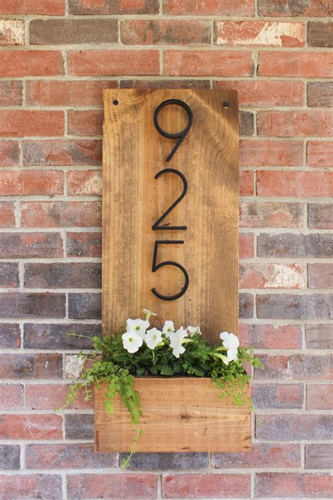 Diy House Numbers Vertical Planter