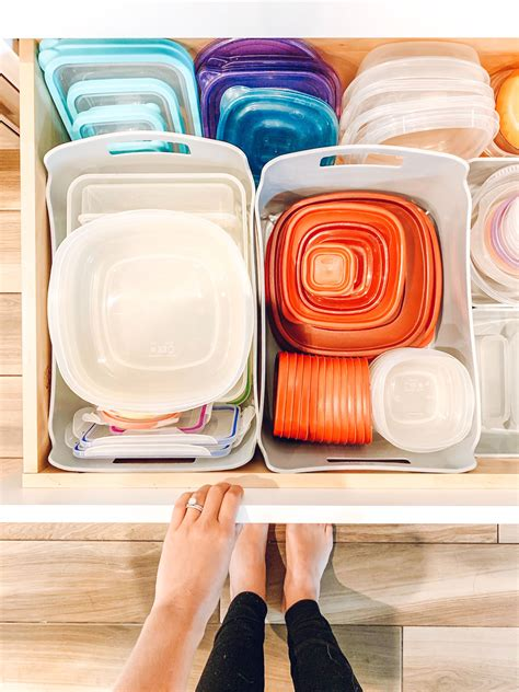 Diy Ideas Tupperware Storage Chart