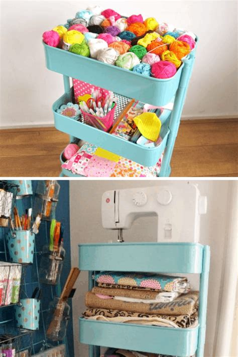 Diy Ikea Kitchen Craft Cart