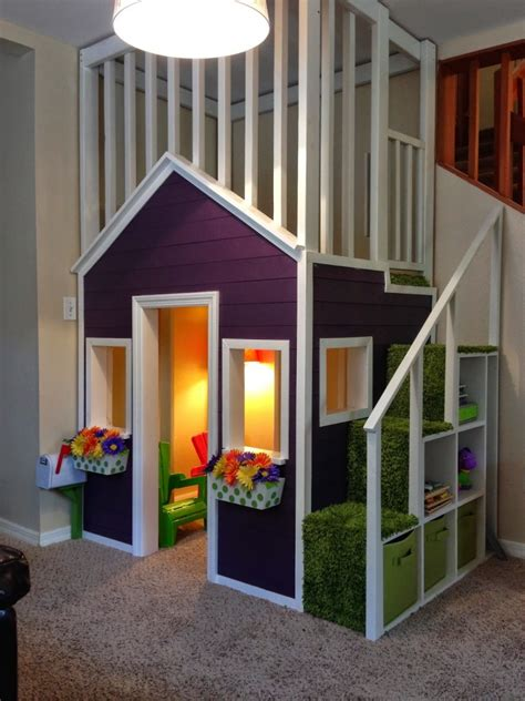 Diy Indoor Playhouse With Bed