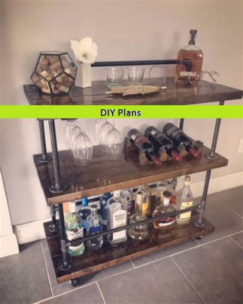 Diy Industrial Bar Cart Plans