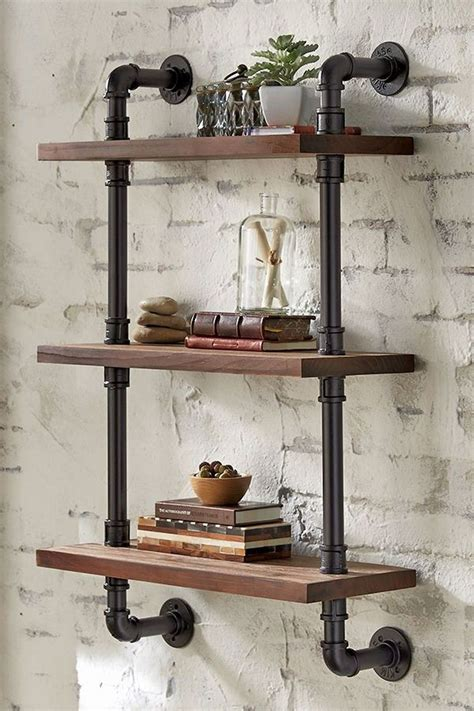 Diy Industrial Bookshelves With Pipe