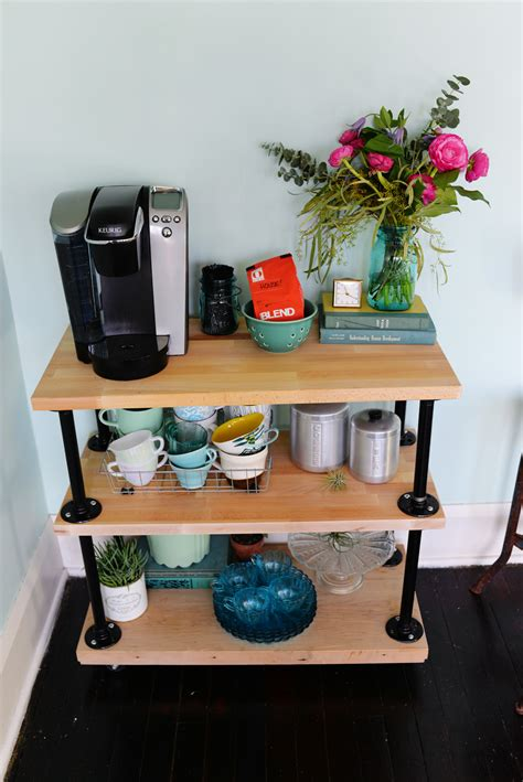 Diy Industrial Coffee Cart