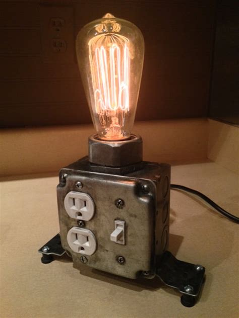 Diy Industrial Desk Lamp With Working Plugs