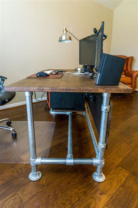 Diy Industrial Desk Wood