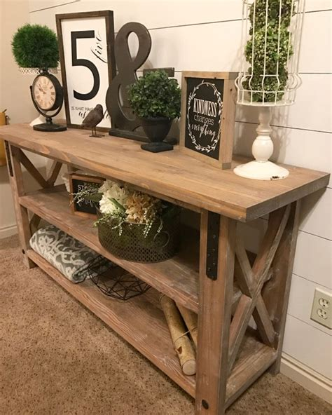 Diy Industrial Entry Table