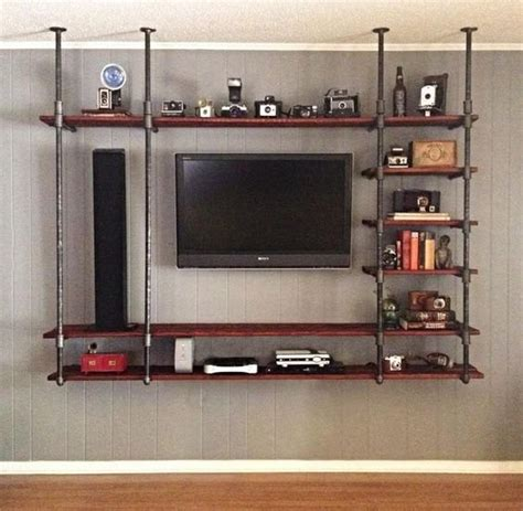 Diy Industrial Pipe Entertainment Center
