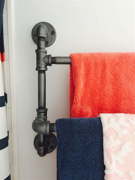 Diy Industrial Towel Rack