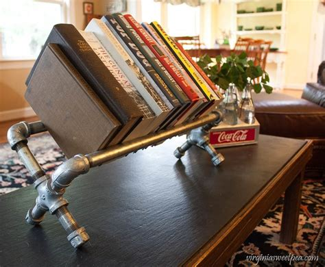 Diy Industrial Wood Book Shelf