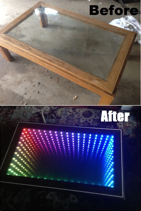 Diy Infinity Mirror Table Instructions