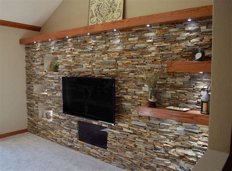 Diy Interior Rock Wall