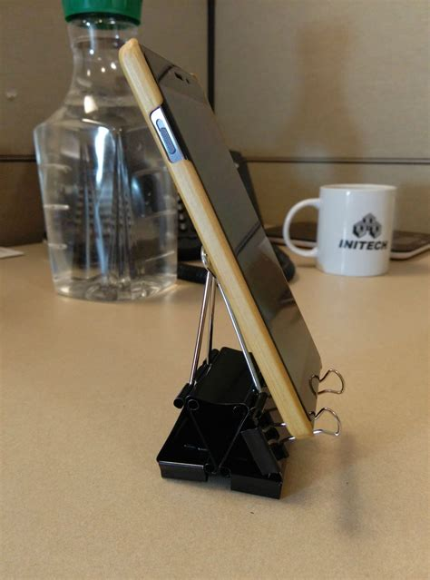 Diy Iphone Stand Binder Clip