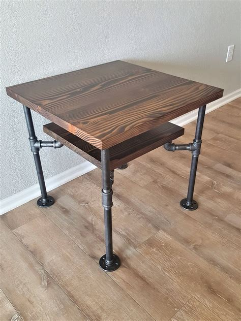 Diy Iron Pipe End Table