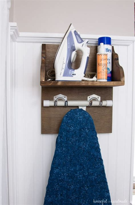Diy Ironing Board Rack