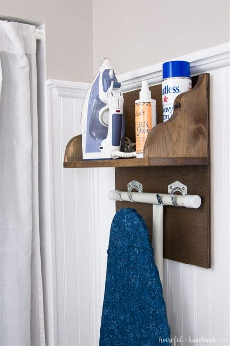 Diy Ironing Board Storage