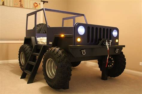 Diy Jeep Bed With Lights