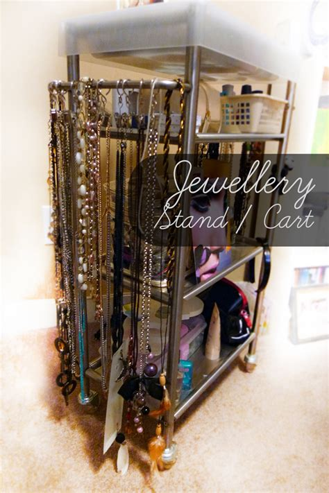 Diy Jewelry And Hair Storage Cart