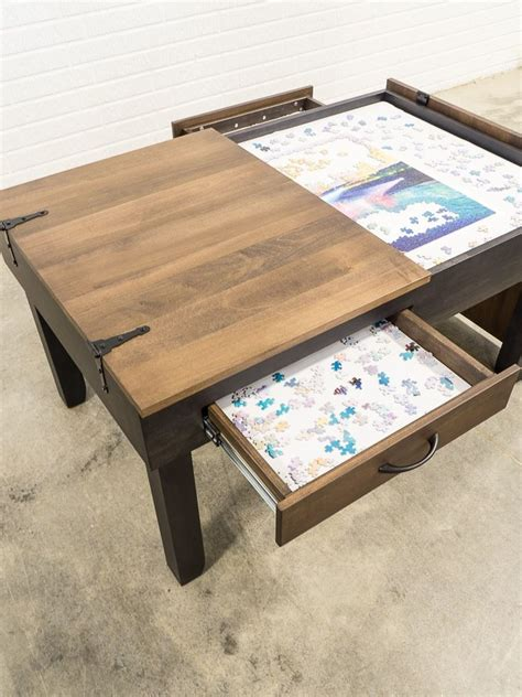 Diy Jigsaw Puzzle Coffee Table