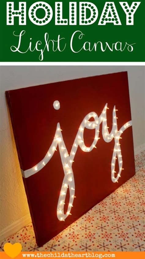 Diy Joy Canvas Light