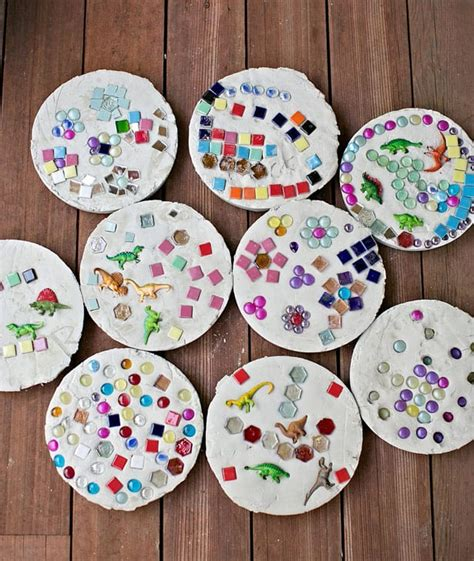 Diy Kids Concrete Stepping Stones