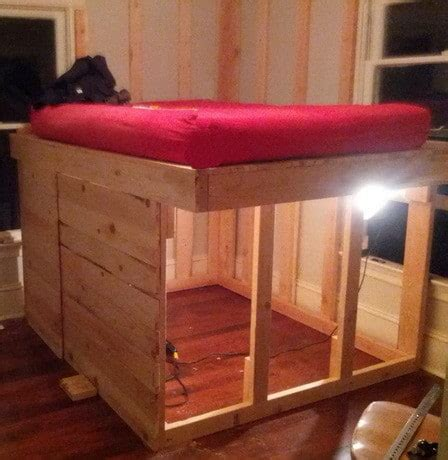 Diy Kids Elevated Bed With Storage Underneath