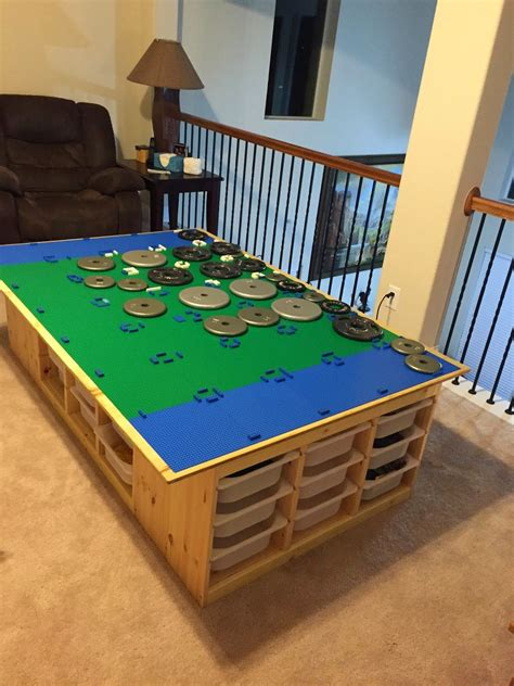 Diy Kids Lego Table With Storage