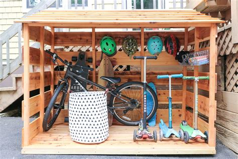 Diy Kids Outdoor Bike Storage