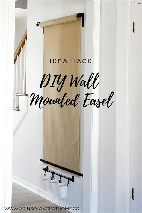 Diy Kids Paper Wall Easel