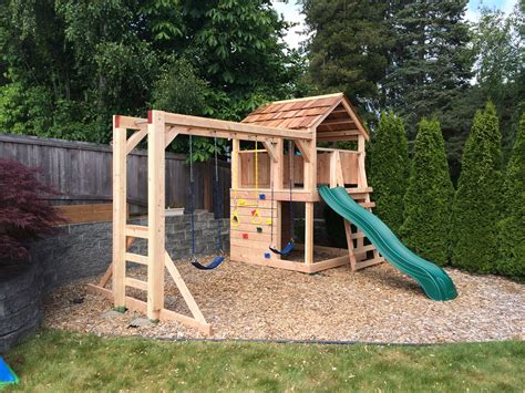 Diy Kids Playhouse Swingset
