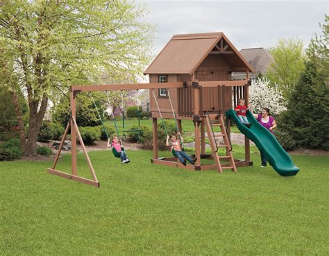 Diy Kids Playhouse With Swing Set