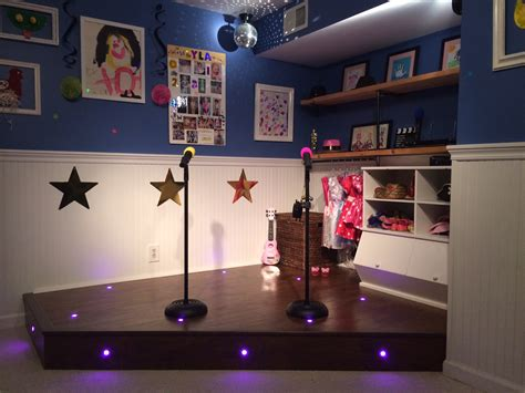 Diy Kids Stage In Playroom