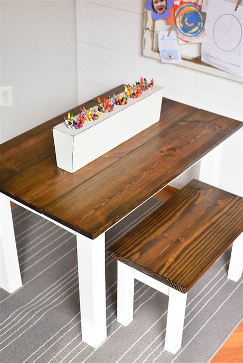 Diy Kids Table With Benches