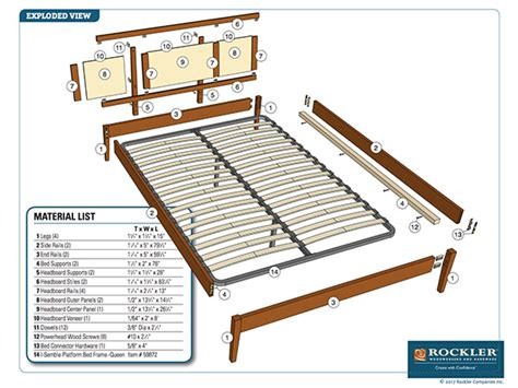Diy King Bed Frame Detailed Plans Crossword