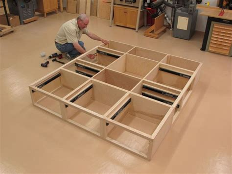 Diy King Size Bed Frame With Drawers Plans