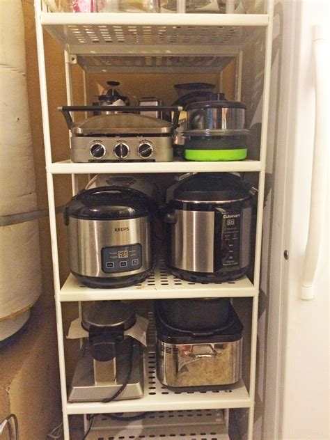 Diy Kitchen Appliance Storage Units