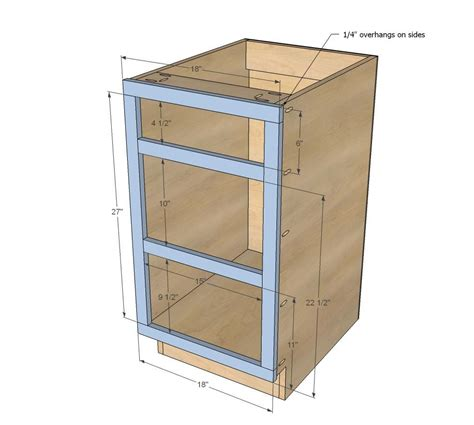 Diy Kitchen Cabinet Drawer Dimensions And Spacing