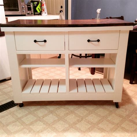 Diy Kitchen Cart With Drawers Plans