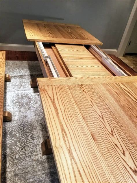 Diy Kitchen Farmhouse Table With Built In Leaves