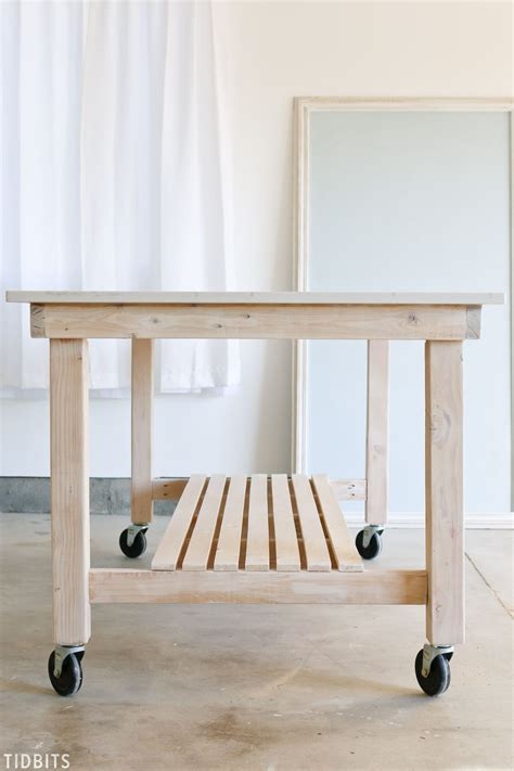 Diy Kitchen Rolling Table