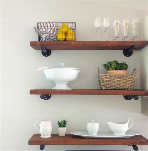 Diy Kitchen Shelves With Wood