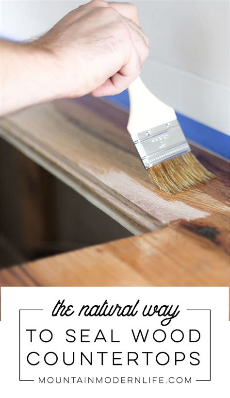 Diy Kitchen Wood Top Sealer