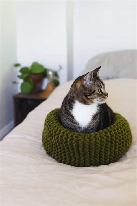 Diy Knit Cat Bed