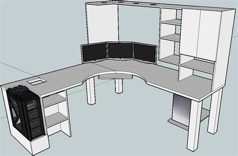 Diy L Shaped Computer Desk Plans