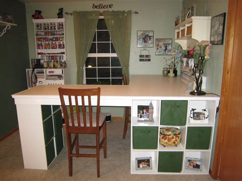 Diy L Shaped Craft Desk From Recollection Storage Cubes