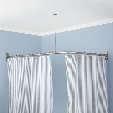 Diy L Shaped Shower Curtain Rod