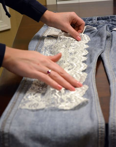 Diy Lace Bottom Jeans