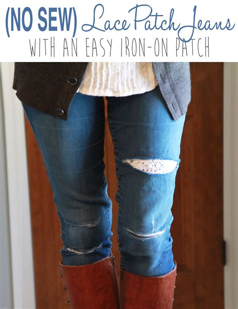 Diy Lace Jeans Patch