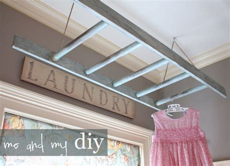 Diy Ladder Laundry Rack