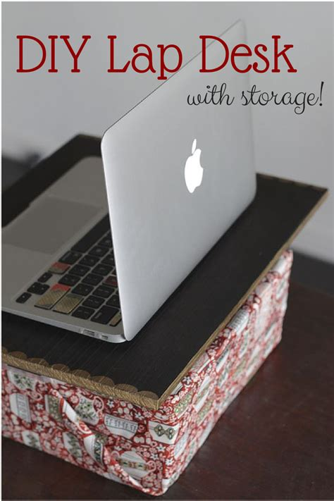 Diy Lap Desk With Storage